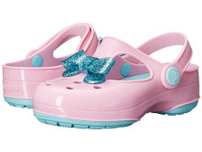 Crocs Kids Carlie Glitter Bow Clog MJ PS可爱童款洞洞鞋6pm.99包邮